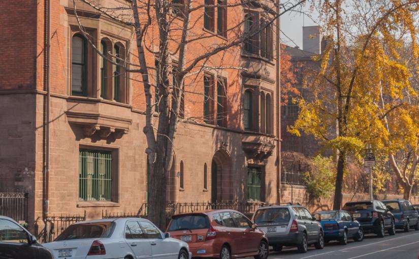 Residential street parking in New York